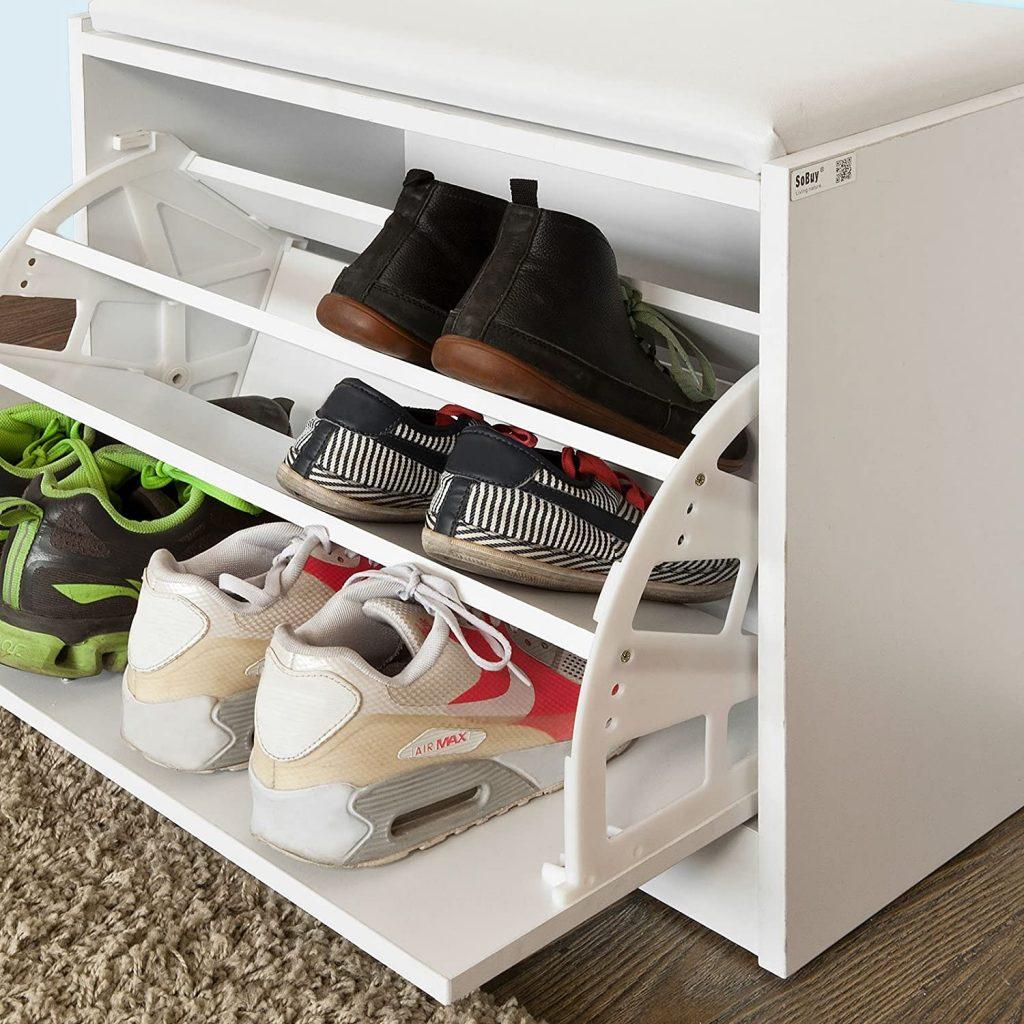 armario zapatero con calzado